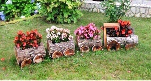 Petit train de fleurs
