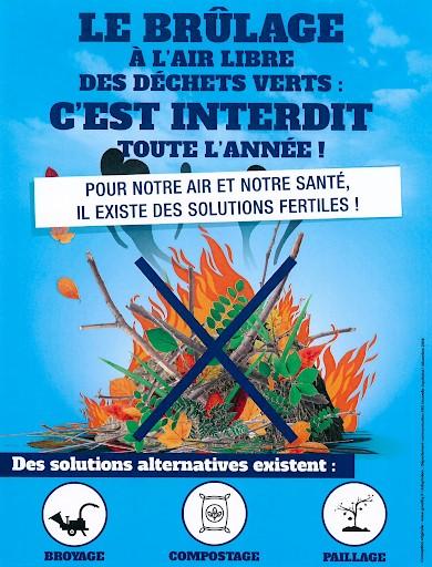 Brûlage des déchets verts interdits